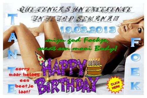 Happy Birthday Tante Foek