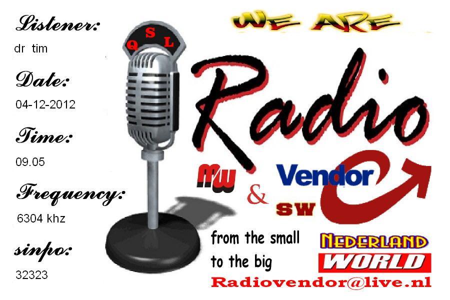 QSL Radio Vendor