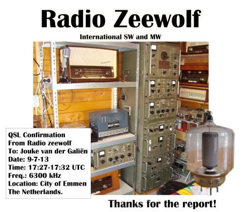 Zeewolf e-QSL Jouke van der Galiën 9-7-13