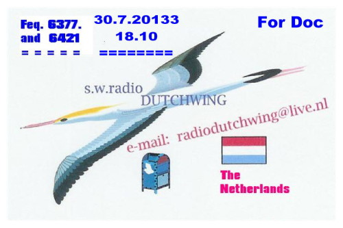 Dutchwing QSL