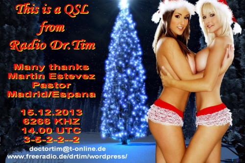 Dr.Tim - Weihnachts QSL 2013-4