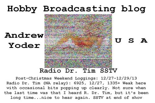 SSTV - Andrew Yoder - 24.Dec 2013