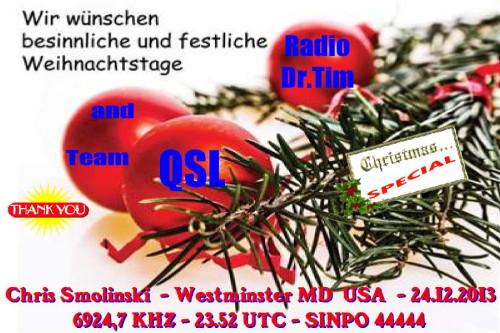 Dr.Tim - Weihnachts QSL 2011-13
