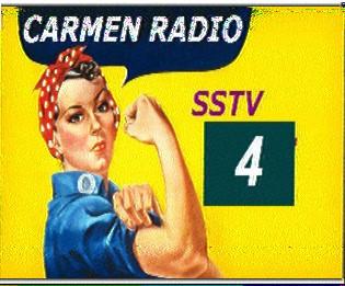 Carmen SSTV Test 4 19.04.2014 6290 kHz