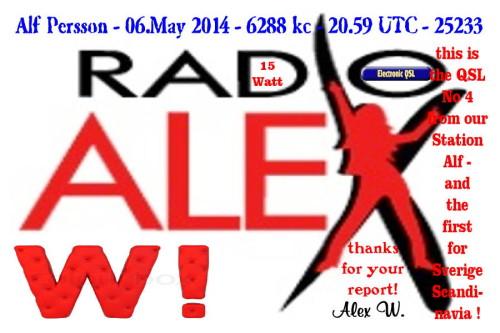 QSL Radio Alex W