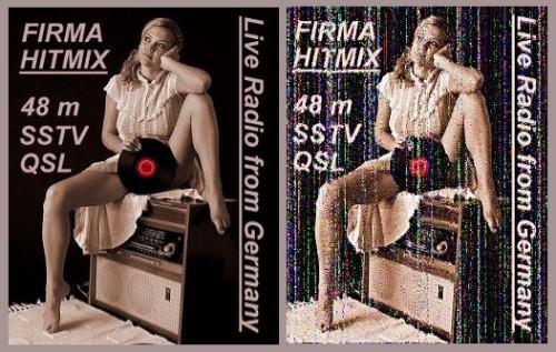 Hitmix SSTV QSL Sept. 2014