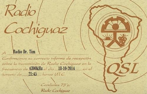 QSL Radio Cochiguaz-2014