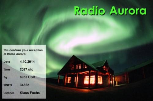 Radio Aurora eQSL