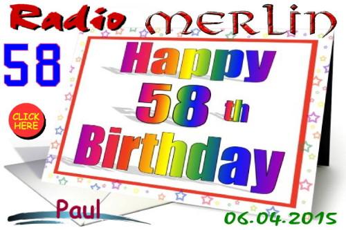 Happy Birthday Radio Merlin - Paul 2015