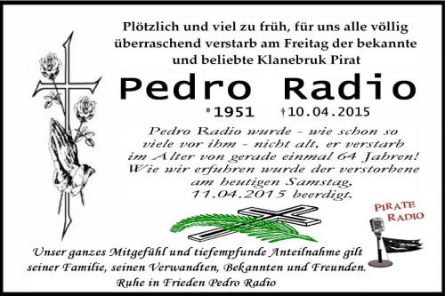 Todesanzeige Pedro Radio