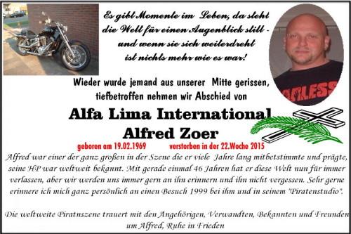 Todesanzeige Radio Alfa Lima
