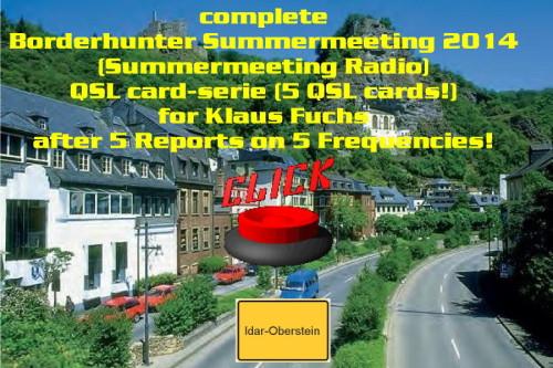 Klaus Fuchs - alle SM 2014 QSL Karten