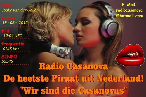 QSL Radio Casanova- Jouke van der Galiën