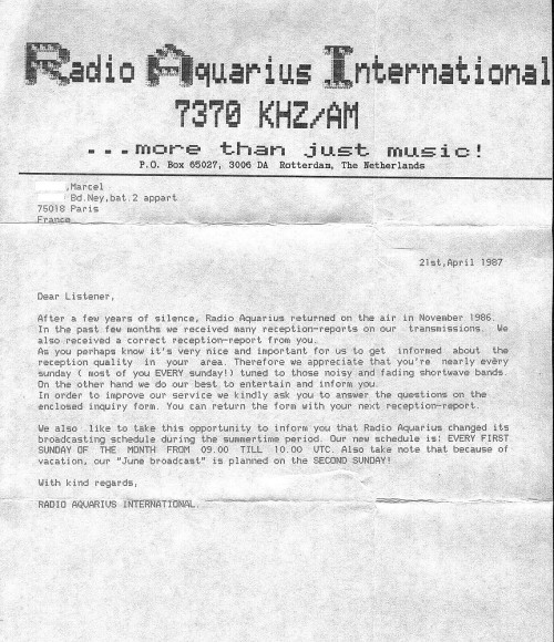 R.Aquarius lettre