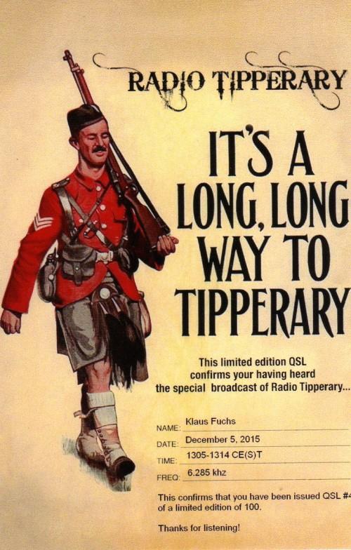 Radio Tipperary QSL No.4