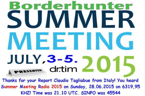 Summermeeting 2015 - QSL-1