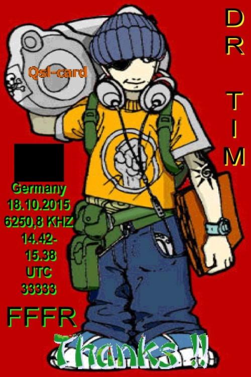 Dr.Tim - Mann mit Radio - QSL-1