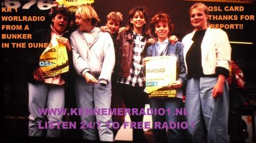 QSL Kennemer radio 1 KR1