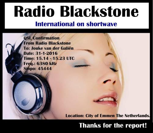 Blackstone e-QSL Jouke van der Gali+½n 31-1-16