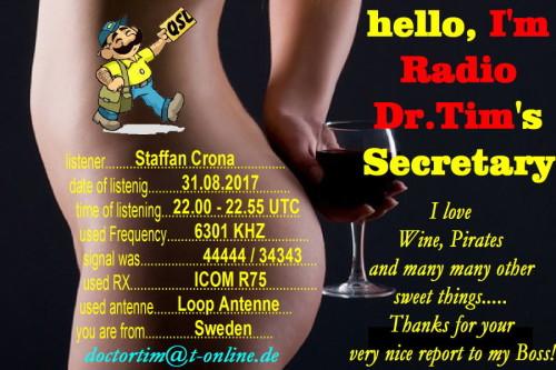 Dr.Tim-QSL - Dr.Tim's Secretary