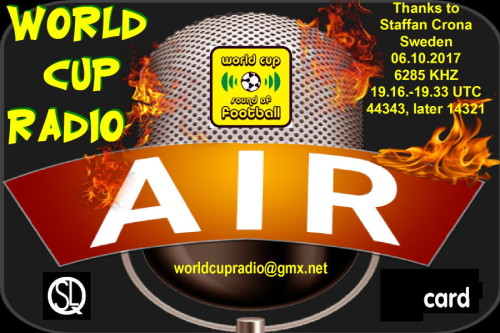 World Cup Radio - QSL-9