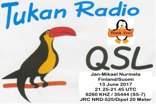 QSL Tukan Radio