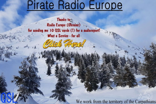 Radio Europe Ukraine) all QSL's