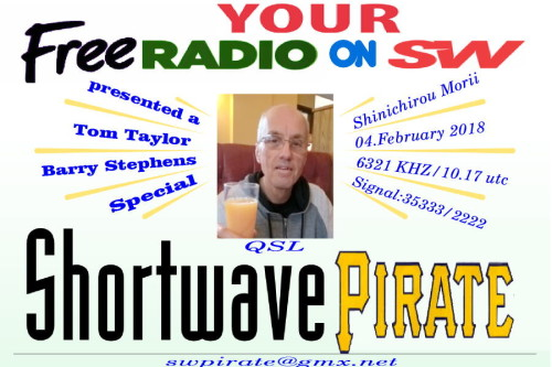 SW-Pirate QSL-19 - Tom Taylor Special
