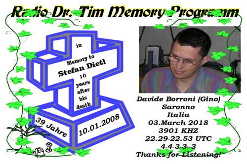 Dr.Tim-QSL - Stefan Dietl-Memory Programm-2018