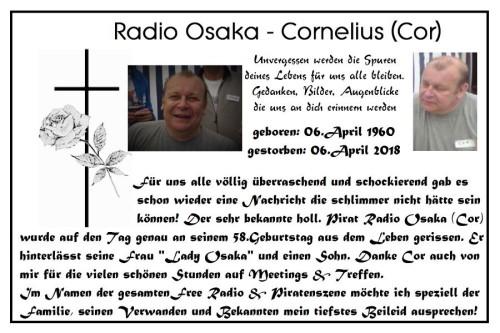 Todesanzeige Radio Osaka (Cor)